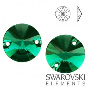 3200 Swarovski Rivoli EMERALD 10 mm