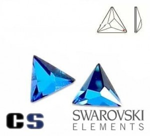 2721 Swarovski Asymmetric Triangle Crystal BERMUDA BLUE 10 mm