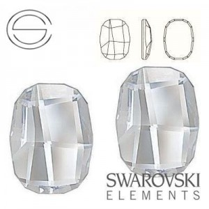 2585 Swarovski Graphic Flat 8,0 mm CRYSTAL F